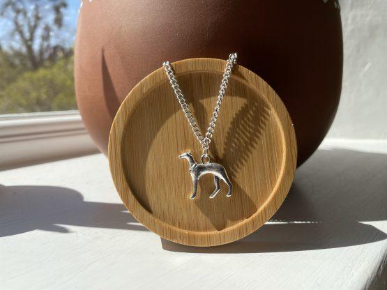 whippet greyhound necklace