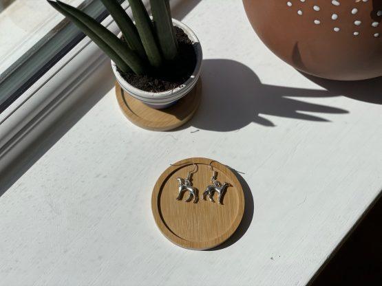 whippet greyhound earrings