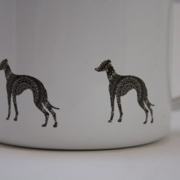 whippet greyhound mug