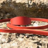 red leather lead