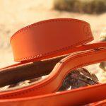 orange leather lead