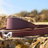 purple leather lead