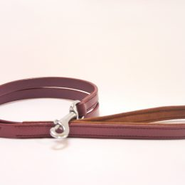 purple leather lead