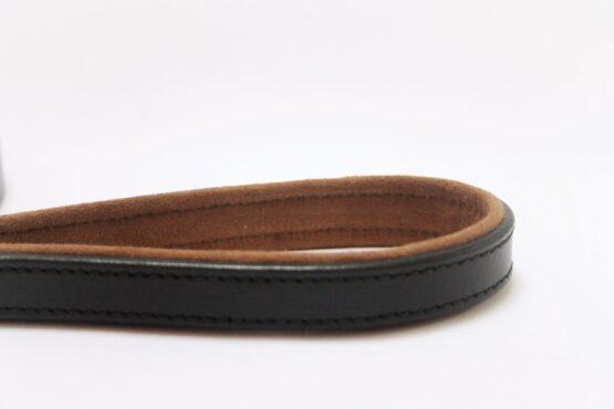 black leather lead