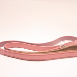 pink leather lead